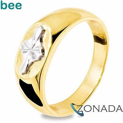 AU917.93 • Buy Mens 9ct Solid Yellow Gold Two Tone Star Ring Size U 10.25 45230