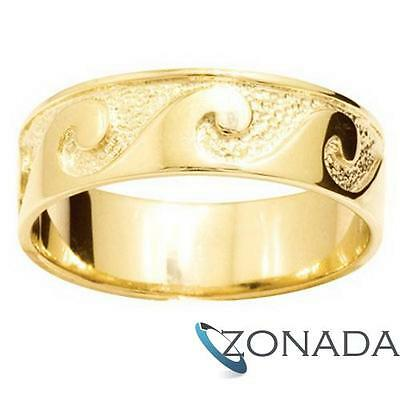 AU917.93 • Buy MENS Wave Plain 9ct 9k Solid Yellow Gold Ring Size U 10.25 43654