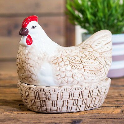 Mason Cash Brown Hen Egg Holder Kitchen Storage Nest Basket Cockerel Chicken • 23.99£