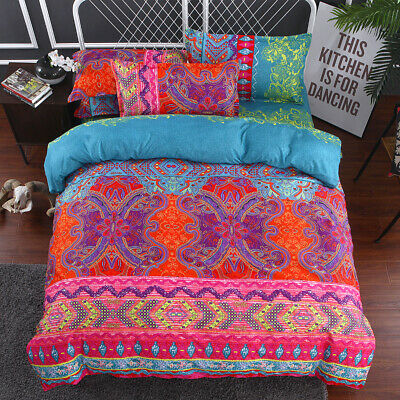 AU23.19 • Buy Mandala Floral Doona Quilt Duvet Cover Set King Size Bedding Linen Pillow Cases