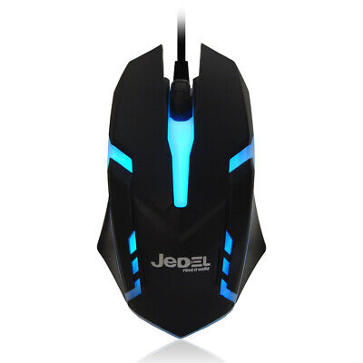 £5.95 • Buy JEDEL Pro Gaming Mouse USB Wired Gamer 7 Colour LED For PC Laptop PS4 Xbox NEW