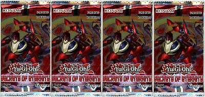 YuGiOh! Secrets Of Eternity 1st Edition New And Sealed Booster Packs X4 • 8.53£