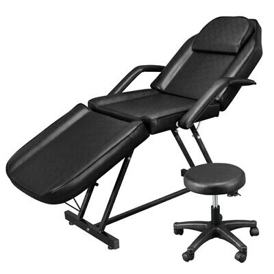 $165.49 • Buy Black Facial Massage Salon Bed Spa Tattoo Massage Bed Table Chair Commercial