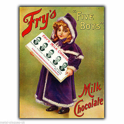 £4.95 • Buy FRY's CHOCOLATE Retro Vintage Advert METAL SIGN WALL PLAQUE Art Picture Print