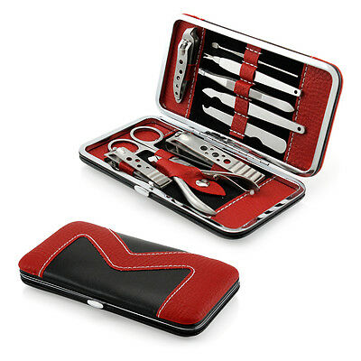 View Details 10 PCS Pedicure / Manicure Set Nail Clippers Cleaner Cuticle Grooming Kit Case • 6.95$