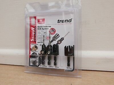 £28.85 • Buy  Trend Snappy 4pce Plug Cutter And Countersink Set Snap/pc/a