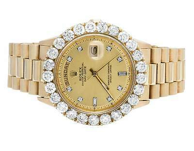$ CDN21304.39 • Buy 18K Mens Yellow Gold Rolex Presidential Day-Date 36MM Prong Diamond Watch 7.0 Ct