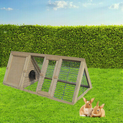 View Details Rabbit Hutch Chicken Coop Guinea Pig Ferret Cage Hen Chook House Run Large • 59.00AU