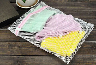 £2.09 • Buy 53cm Zipped Laundry Mesh Bags Delicate Washing Easy Lingerie Bra Clothes Wash