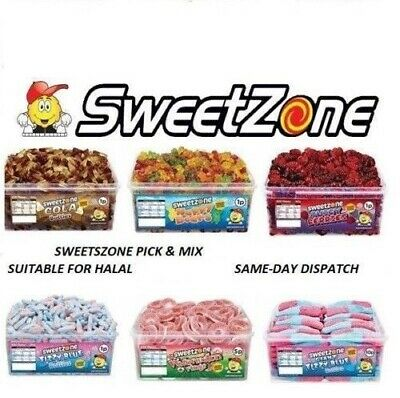 Sweetzone 1 Tub Of Sweets Wholesale Candy Kids Parties Favours 100% Halal Hmc • 9.98£