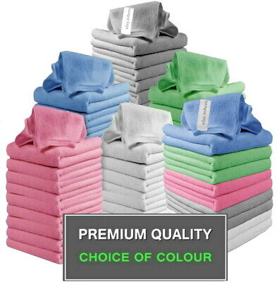 £5.99 • Buy 10 X Large Microfibre Cloths Dusters Car Kitchen Bathroom Polish Drying Towels