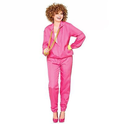 Ladies 80s Shell Suit Costume Scouser Tracksuit Adult Womens Fancy Dress Outfit • 13.49£