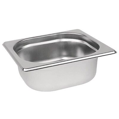 £5.96 • Buy Gastronorm 1/6 Stainless Steel Container Bain Marie Food Pan FREE DELIVERY
