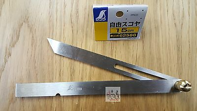 Japanese Shinwa 62588 Sliding Bevel Gauge 150mm (6 ) Stainless Steel • 15.01£