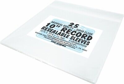$10.99 • Buy (25) 10  BOPP Resealable 2mil Record Outer Sleeves Bags Covers 78rpm #10SB02RSIM