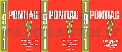 $99 • Buy Pontiac Mechanical Parts Book 1971 1970 1969 1968 1967 66 Master Chassis Catalog