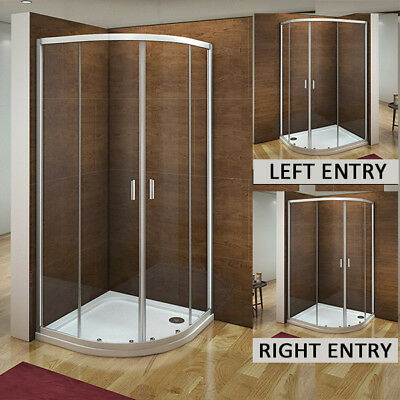 Aica Quadrant Shower Enclosure & Tray Corner Cubicle Glass Door 800x800 900x900 • 179.40£