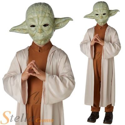 Boys Deluxe Yoda Costume Star Wars Halloween Fancy Dress Child Outfit • 19.48£