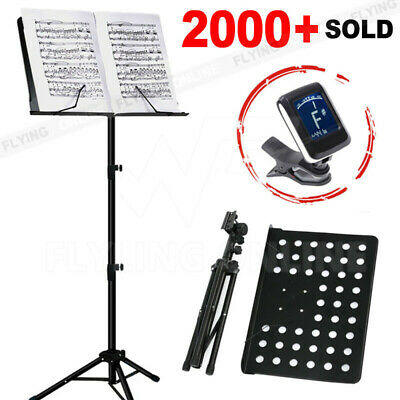 AU24.55 • Buy Heavy Duty Music Stand Adjustable Folding Guitar Stand Large Professional Stage