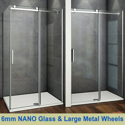 £130.14 • Buy Aica Frameless Sliding Shower Enclosure Door And Tray 1950 Glass Screen Cubicle