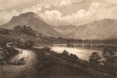 BUTTERMERE. Lake District. Cumbria 1893 Old Antique Vintage Print Picture • 12.99£