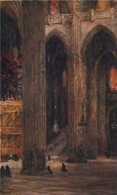 £3.99 • Buy In The Cathedral, Seville, Spain, By William Wiehe Collins 1909 Old Print