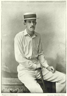 MIDDLESEX CRICKET. CYRIL FOLEY- Eton Cambridge Batsman 1896 Old Antique Print • 9.99£