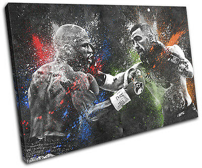 Mayweather McGregor Boxing UFC Sports SINGLE CANVAS WALL ART Picture Print • 19.99£