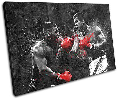 Dream Fight Boxing Ali Tyson Sports SINGLE CANVAS WALL ART Picture Print • 19.99£