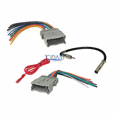 $11.75 • Buy GM Car Radio Stereo Wiring Harness Antenna Combo For 1992-up Chevy GMC Pontiac
