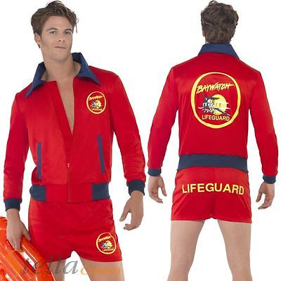 £32.95 • Buy Mens Baywatch Beach Costume 1980s TV Lifeguard Fancy Dress Adult Outfit