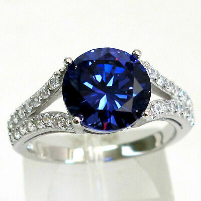 £16.67 • Buy Trendy 3 Ct Tanzanite  925 Sterling Silver Ring Size 5-10