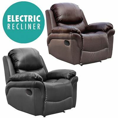 £309.99 • Buy Madison Electric Leather Auto Recliner Armchair Sofa Home Lounge Chair