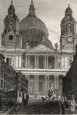£10.99 • Buy St Paul's Cathedral, London. Antique Engraved Print 1817 Old