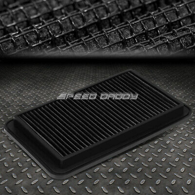 $12.55 • Buy For 04-06 Solara/camry/sienna Black Reusable&washable High Flow Panel Air Filter