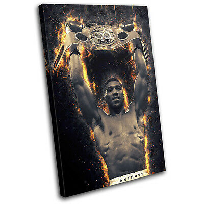 Boxing Anthony Joshua Champion Sports SINGLE CANVAS WALL ART Picture Print • 24.99£