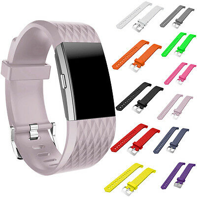 AU5.65 • Buy Sports Silicone Leather Replacement Watch Band Strap For Fitbit Charge2 Bracelet