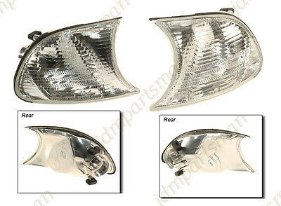 $38.95 • Buy NEW For BMW E46 325Ci M3 Front (Set Of 2) Left + Right Turn Signal Light TYC