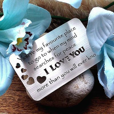AU13.35 • Buy Gifts For Her Husband For Him Wedding Anniversary Valentines Day Love Heart
