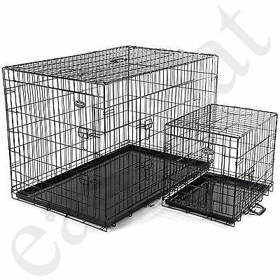 View Details Dog Puppy Metal Training Cage Crate Black Carrier S M L XL XXL Sizes Easipet • 54.99£