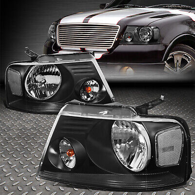 $72.65 • Buy For 04-08 Ford F150 Lincoln Mark Lt Black Housing Clear Corner Headlight Lamps