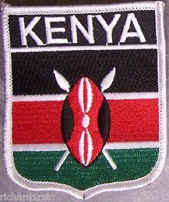 £7.15 • Buy Embroidered International Patch National Flag Of Kenya NEW Bunting