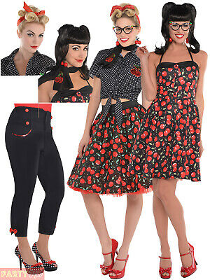 AU11.95 • Buy Ladies Rockabilly Costume Accessories Womens 50s Rock N Roll Fancy Dress Outfit