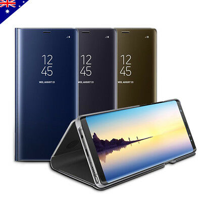 AU8.99 • Buy Slim Cover Luxury Flip Case For Samsung S10 5G S9 S8 Plus Note 10 9 Shockproof