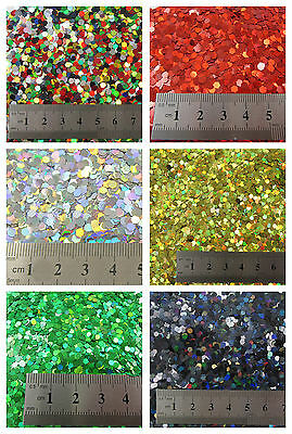 15g LARGE HOLOGRAPHIC GLITTER *4 SIZES *5 COLOURS * CRAFTS NAIL ART CARD MAKING • 1.59£
