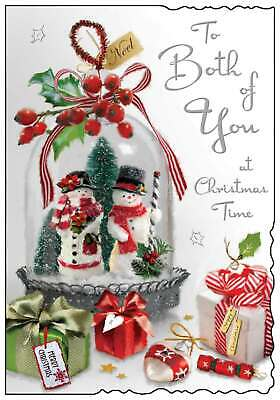 £3.49 • Buy Jonny Javelin Both Of You Christmas Card - Horses, Carriage & House 9  X 6.25