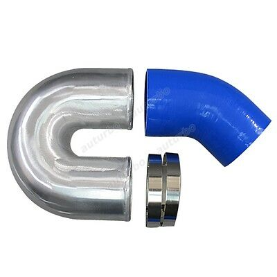 AU82.65 • Buy 4  Cast Aluminium Elbow U + 45 Deg Hose Clamp Intercooler Turbo Pipe