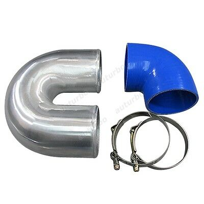 AU82.65 • Buy 4  Cast Aluminium Elbow U +90 Deg Hose Clamp Intercooler Turbo Pipe