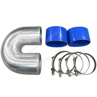 AU82.65 • Buy 4  Cast Aluminium Elbow U + 2 Hose Clamp Intercooler Turbo Pipe Intake