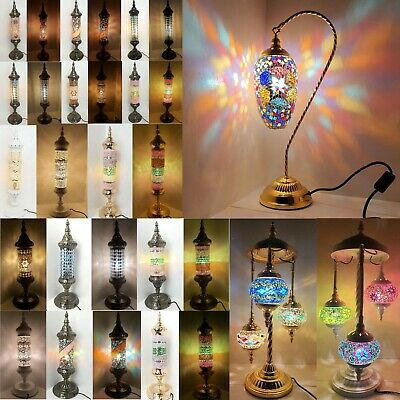 Turkish Floor Lamp, Hand Made Glass Moroccan Mosaic Shades & Metal Exclusive  • 75£